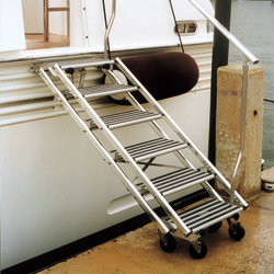 Todd Boarding Stairs 5 Steps 45 1/4''l X 23 1/2''w Deployed 53''l 3''d Folded, Dock Boarding Ladders for Boats & Yachts