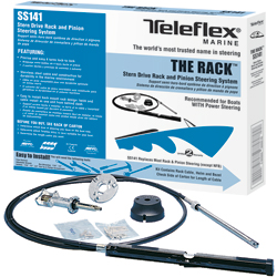 Teleflex The Rack Stern Drive And Pinion Steering System 14' Cable Length, Mechanical Steering for Boats & Yachts