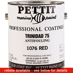 Pettit Paints Trinidad 75 Anti Fouling Paint (commercial/industrial Only) Paint Light Blue Gallon, Bottom Paint for Boats & Yachts