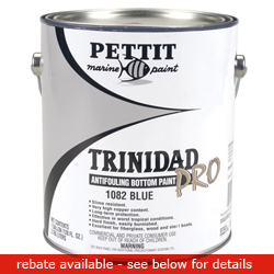 Pettit Paints Trinidad Pro Anti Fouling Bottom Paint (commercial/industrial Only) Paint Blue Gallon, Bottom Paint for Boats & Yachts