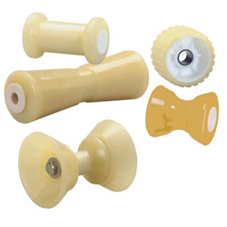C E Smith Thermo Plasticized Rubber Rollers Guards & Caps Deep V Bow Roller 10''l For 5/8'' Shaft, Bunks & Rollers for Boats & Yachts
