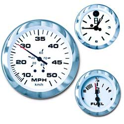 Teleflex Lido (signature Series) Instruments Engine Synch Gauge (requires Module) Port Starboard Code Module 2 38'' Dia 2 13''/2 22'' Mounting Hole Min max, Instrumentation for Boats & Yachts