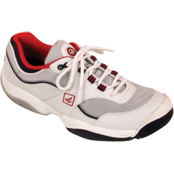 Sperry Top Sider Men's Spinnaker Performance Shoes White/navy/red 9, Men's Boating Technical Shoes
