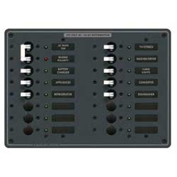Blue Sea Systems Ac Main Panel   14 Positions, Distribution Panels for Boats & Yachts