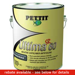 Pettit Paints Ultima Pro Paint (commercial / Industrial Only) Sr60 Antifouling Paint Red Gal, Bottom Paint for Boats & Yachts