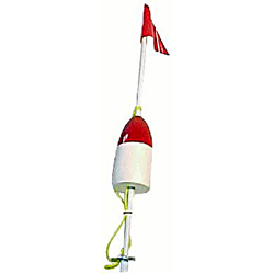 Willapa Marine Products Complete Buoy Stick Crab Or Shrimp Crab Red & White, Crab & Lobster Traps for Boats & Yachts