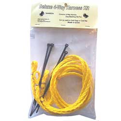 Willapa Marine Deluxe 4 Way Harness Kit Crab Or Shrimp, Crab & Lobster Traps for Boats & Yachts