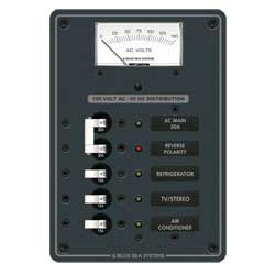Blue Sea Systems Ac Electrical Distribution Panel Main   3 Positions, Distribution Panels for Boats & Yachts