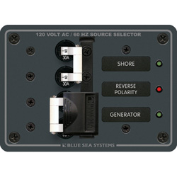 Blue Sea Systems 120v A Series Source Selection Toggle Circuit Breaker Panels Ac Sources   9 Positions 5 1/4'' X 11, Distribution Panels for Boats & Yachts