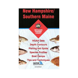 Fishing Hot Spots New Hampshire/southern Maine Fishing Chart, Pre-Printed US Charts for Boats & Yachts