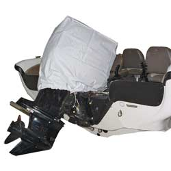 Taylor Made Gray Poly Cotton Motor Hoods O/b Cover Hs 125 235hp 35'' X 17'' 28'' 926117on Navy, Boat Engine & Console Covers