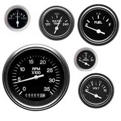 Teleflex Heavy Duty Series Instruments For Diesel Engines Oil Pressure* 0 80 Psi Sender Required, Instrumentation for Boats & Yachts