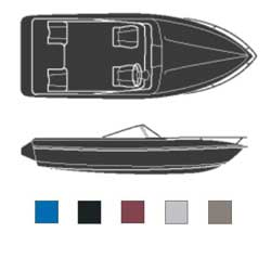 Attwood V Hulls Outboard Boaters Best Polyester Covers 20'6''l 96'' Beam Width Burgundy, Sturdy Boat Covers