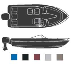 Attwood V Hulls Inboard/outboard Boaters Best Polyester Covers 17'6''l 85'' Beam Width Blue, Sturdy Boat Covers