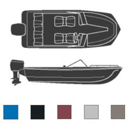 Attwood Tri Hulls Outboard Boaters Best Polyester Covers 16'6''l 80'' Beam Width Blue, Sturdy Boat Covers