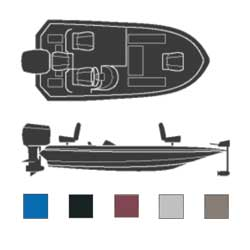Attwood Boaters Best Polyester Cover 20' 6''l 96'' Beam Width Black Wide, Sturdy Boat Covers