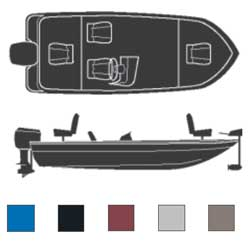 Attwood Pro Style Bass Boats Outboard Boaters Best Polyester Covers 17'6''l 80'' Beam Width Mountain Rock, Sturdy Boat Covers