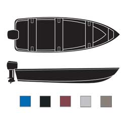Attwood V Hull Fishing Boats Outboard Boaters Best Polyester Covers 17'6''l 82'' Beam Width Black, Sturdy Boat Covers