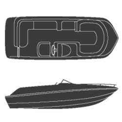 Attwood Deck Boat Covers With Side Console 102'' Beam Width 23'6'' Center Length, Sturdy Boat Covers