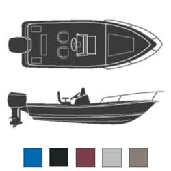 Attwood Offshore/center Console Fishing Boat Road Max Poly/cotton Cover 20'6''l 96'' Beam Width Gray, Sturdy Boat Covers