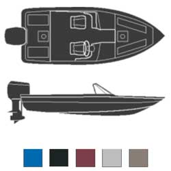 Attwood Fish And Ski Boats Outboard Road Max Poly/cotton Cover 19'6''l 90'' Beam Width Gray, Sturdy Boat Covers