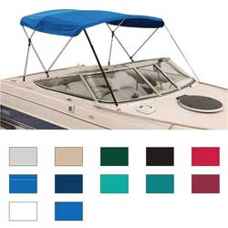 Attwood 3 Bow Bimini Top Fabric Only Acrylic For 36''h 72'''l 97'' 102''w Blue, Boat Bimini Tops