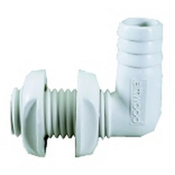 Attwood 90 Degree Through Hull Connector, Metal Plumbing Fittings for Boats & Yachts
