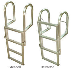 International Dock Floating Dock Lifting Ladders 5 Step, Dock Boarding Ladders for Boats & Yachts