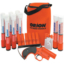 Orion 12 Gauge High Performance Alert/locate Plus Signal Kit, USCG Flare Kits for Boats & Yachts