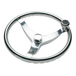 West Marine Vision Wheel With Finger Grips And Control Knob 15 1/2'', Steering Wheels & Accessories for Boats & Yachts