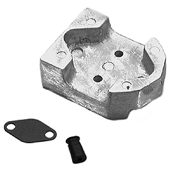 Mercury Marine Mercruiser Gimbal Housing Zinc Anode Plate, Outboard & Outdrive Anodes for Boats & Yachts