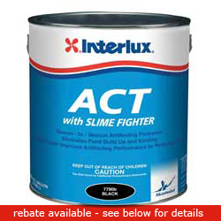 Interlux Fiberglass Bottomcoat Act Paint Bottomkote Act Blue Gal, Bottom Paint for Boats & Yachts