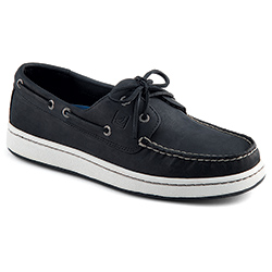 Sperry Top Sider Men's Sperry Cup Boat Mocs Black/white 10 5, Men's Boating Moccasins