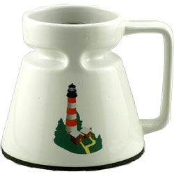 Galleyware Ceramic Mugs Lighthouse, Boat Tableware
