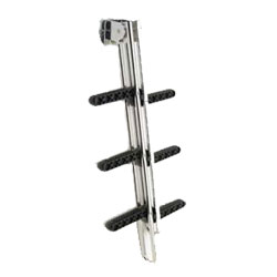 Garelick Anodized Aluminum Gull Wing Ladders 3 Step, Dock Boarding Ladders for Boats & Yachts
