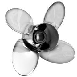 Mercury Marine Quicksliver Modular Propellers Typhoon 14'' X 19'' Lh 4bl, Stainless-Steel Propellers for Boats & Yachts