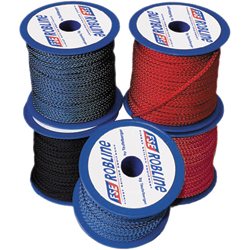Fse Robline Polyester Braid Mini Spools 3mm Braid 330lb Breaking Strength 15m (49 21') Length Red, Polyester Lines for Boats & Yachts