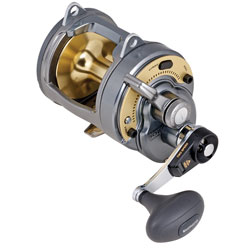 Shimano Two Speed Tyrnos Lever Drag Reels Tyr30ii 450/40lb Yds/test 5 1/2 1 Gear Ration 40 9oz, Conventional Fishing Reels for Boats & Yachts