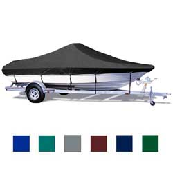 Taylor Made V Hull Cntr Console Cover Gray Poly Cotton 18'5'' 19'4'' 102'' Beam, Sturdy Boat Covers