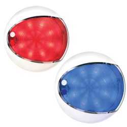Hella Marine Euroled Touch Dome Lights White Housing White/blue Leds, LED Interior Lights for Boats & Yachts