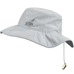 Gill Technical Wide Brimmed Hat Silver/gray, Boating Technical Hats