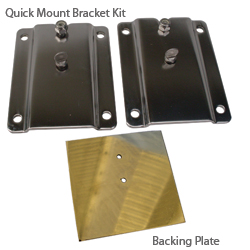 Dive N Dog Ladder Mounting Accessories Large Backing Plates (pair), Dock Boarding Ladders for Boats & Yachts