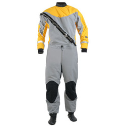 Nrs Men's Extreme Dry Suit Gray/yellow Large, Kayak Accessories