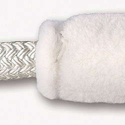 Megafend Removable Fluffy Chafing Gear Chafe Gear White Sheep's Wool, Dock Chafe Gear & Snubbers for Boats & Yachts