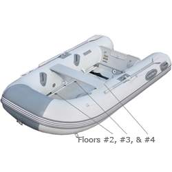 West Marine Al 290 & 390 Inflatable Boat Floors Wood Floor #1 (al 390), Inflatable Replacement Boat Parts