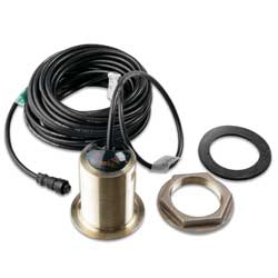 Garmin Bronze 12 Thru Hull Tilted Element Transducer, Transducers for Boats & Yachts
