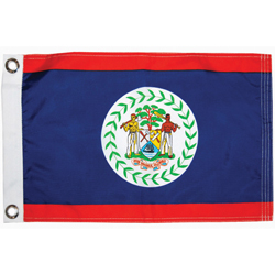 Taylor Made Belize Courtesy Flag 12'' X 18'', Marine Foreign Courtesy Flags