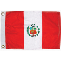 Taylor Made Peru Courtesy Flag 12'' X 18'', Marine Foreign Courtesy Flags