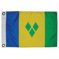 Taylor Made St Vincent Courtesy Flag 12'' X 18'', Marine Foreign Courtesy Flags
