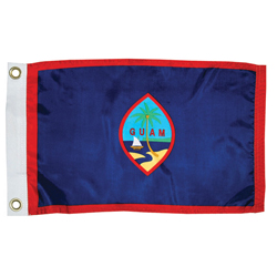 Taylor Made Guam Dyed Courtesy Flag 12'' X 18'', Marine Foreign Courtesy Flags